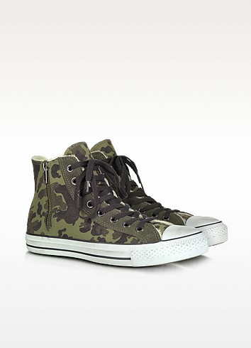 Canvas and Shearling High Top Sneaker - Converse Limited Edition