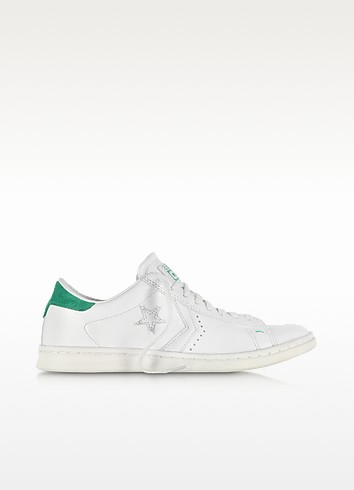 Cons Pro Leather LP Ox White Dust and Green Sneaker - Converse Limited Edition