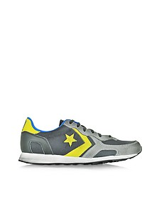 Auckland Racer Ox Sneker in Nylon Antracite e Suede Giallo Sole - Converse Limited Edition