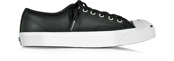 Jack Purcell Black Leather Low Top Sneaker - Converse Limited Edition