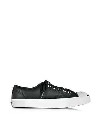 Jack Purcell Black Leather Low Top Sneaker
