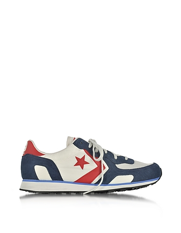 Auckland Racer Distressed Ox Vaporous Gary/Athletic Navy Men's Sneakers
