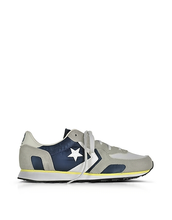 Converse Limited Edition - Auckland Racer Distressed Ox Athletic Navy Ghost Gray and Buff Men's Snea