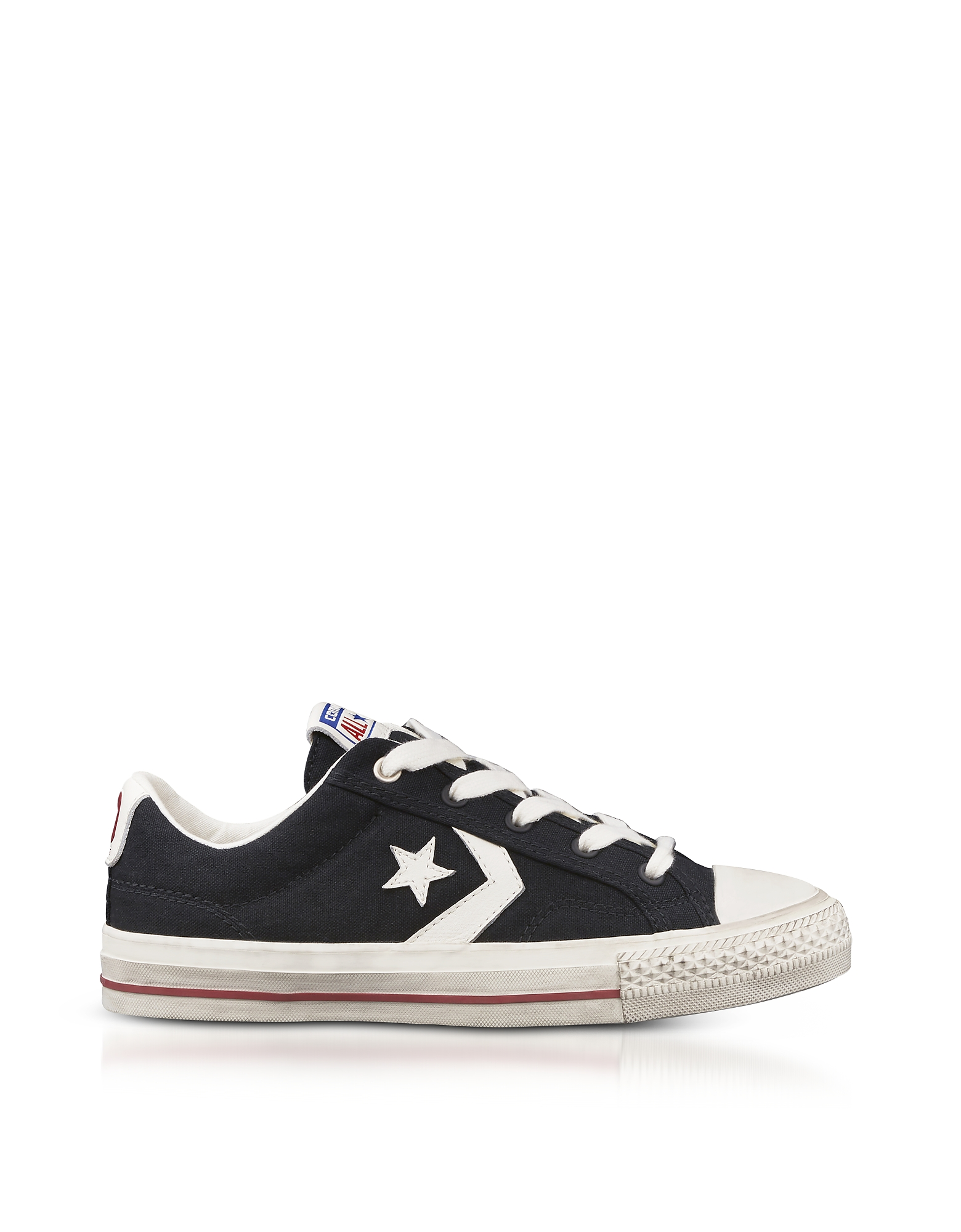 Converse Limited Edition Shoes, Black Star Player Distressed Ox Canvas Men's Sneakers