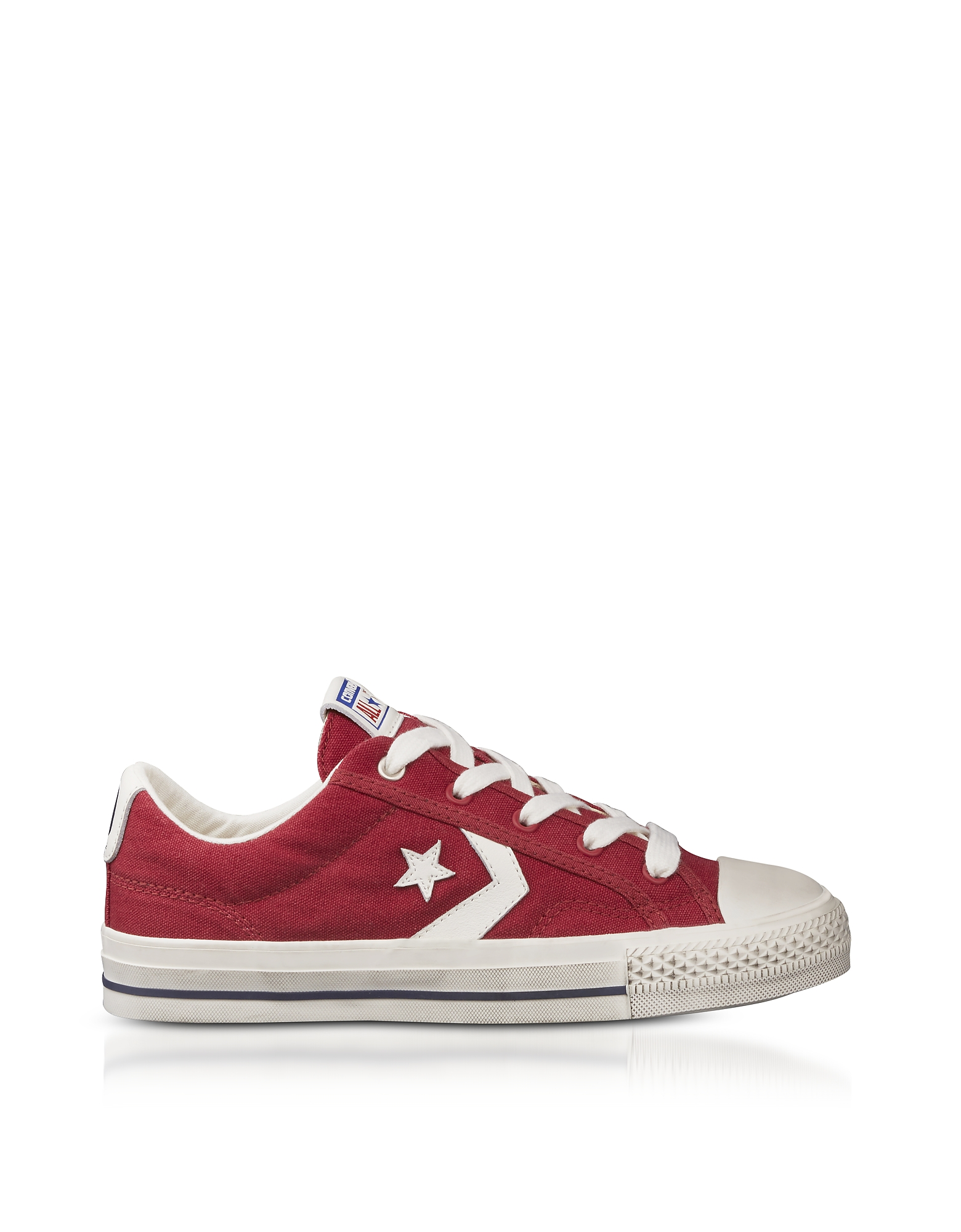 Converse Limited Edition Shoes, Red Star Player Distressed Ox Canvas Men's Sneakers