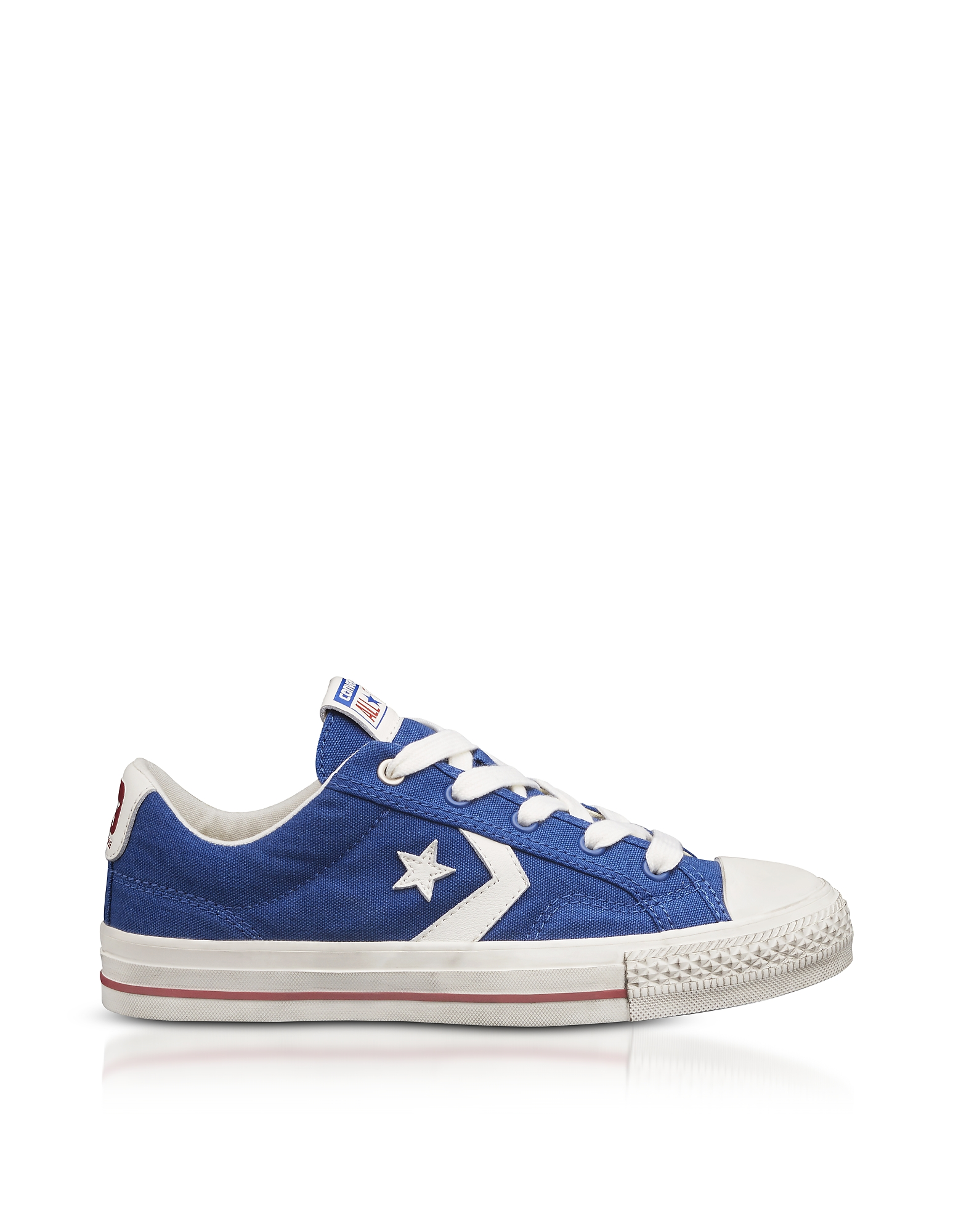 Converse Limited Edition Shoes, Blue Star Player Distressed Ox Canvas Men's Sneakers