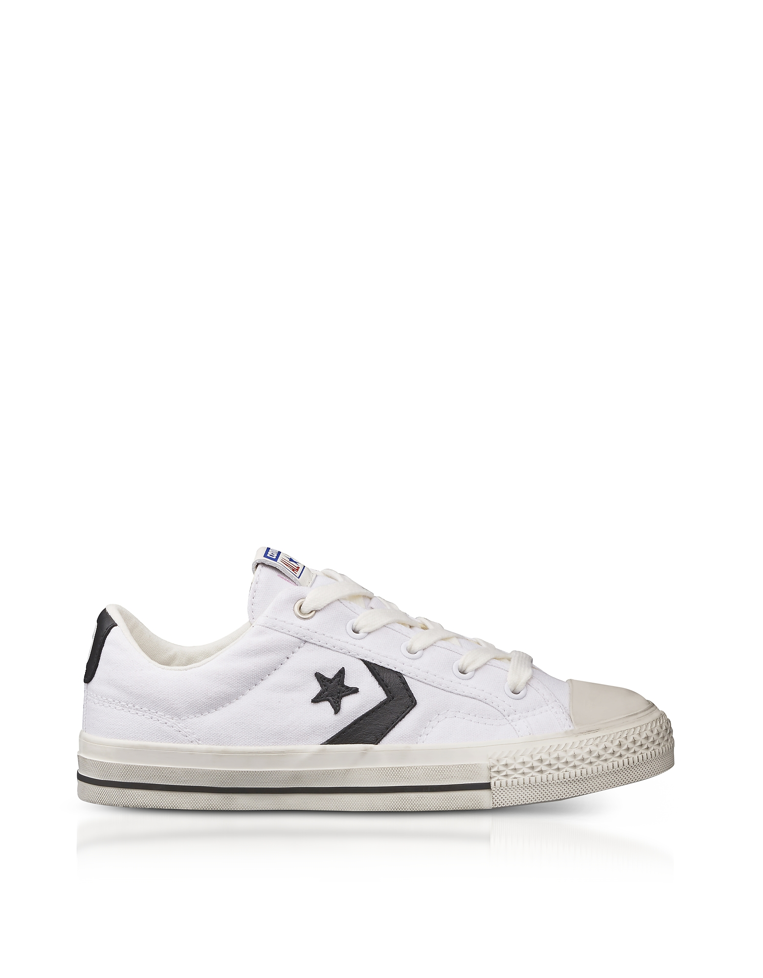Converse Limited Edition Shoes, White Star Player Distressed Ox Canvas Men's Sneakers