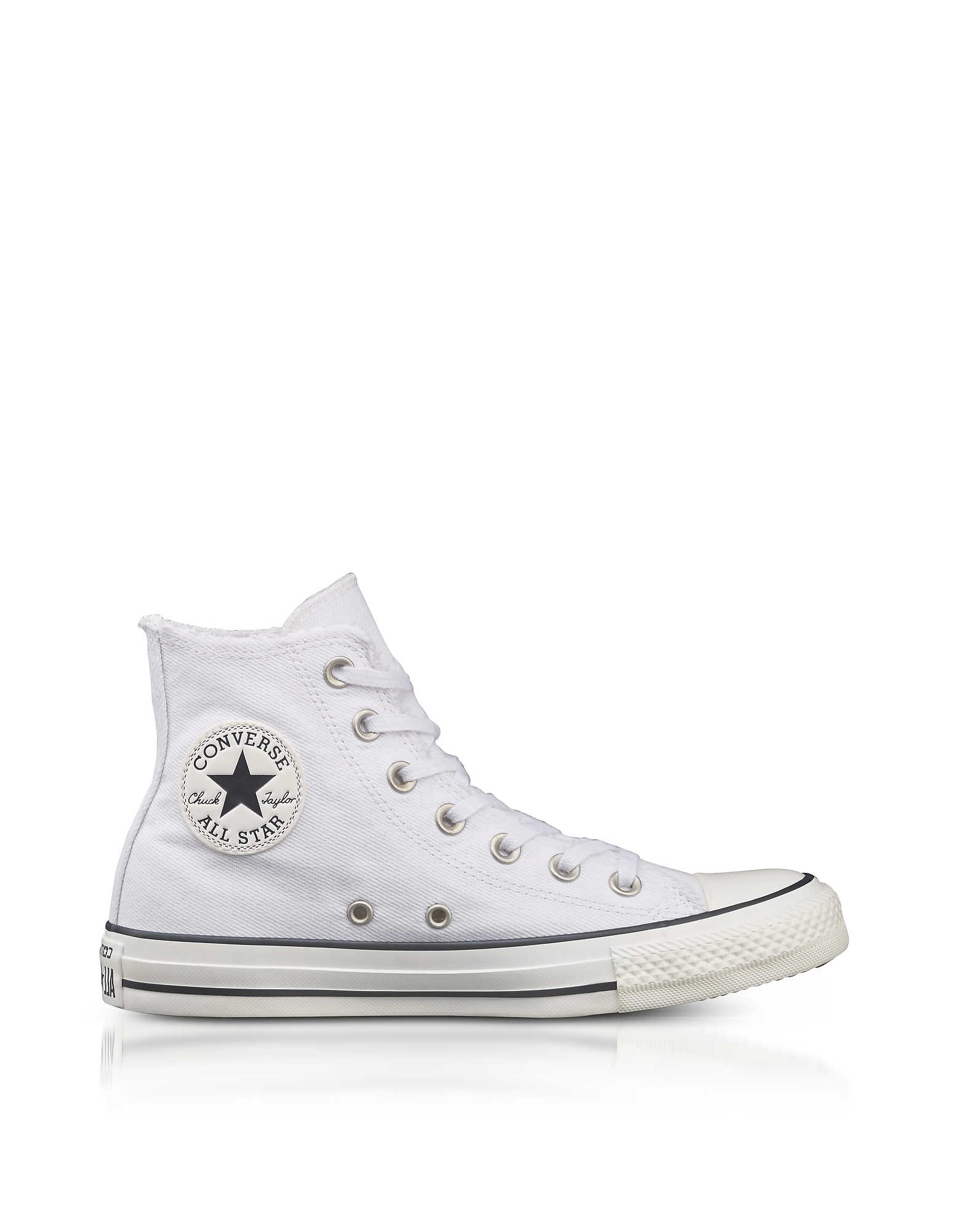 Converse Limited Edition Shoes, Chuck Taylor All Star High White Canvas Sneakers