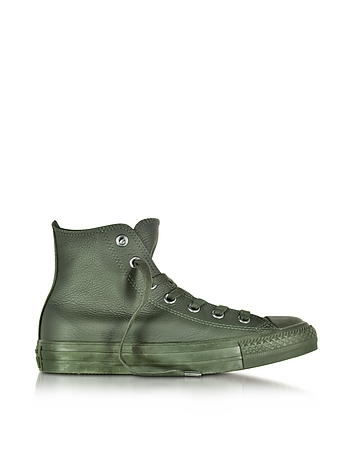 Converse Limited Edition - All Star High Green Onyx Leather Sneakers