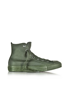 All Star High Green Onyx Leather Sneakers - Converse Limited Edition