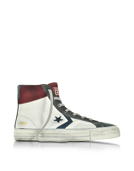 Foto Converse Limited Edition Star Player High Sneaker in Pelle e Suede Bianco/Truffle Scarpe