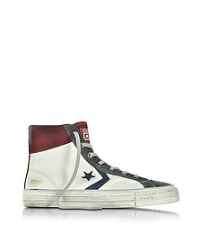 Star Player High White/Truffle Leather and Suede Men's Sneaker - Converse Limited Edition