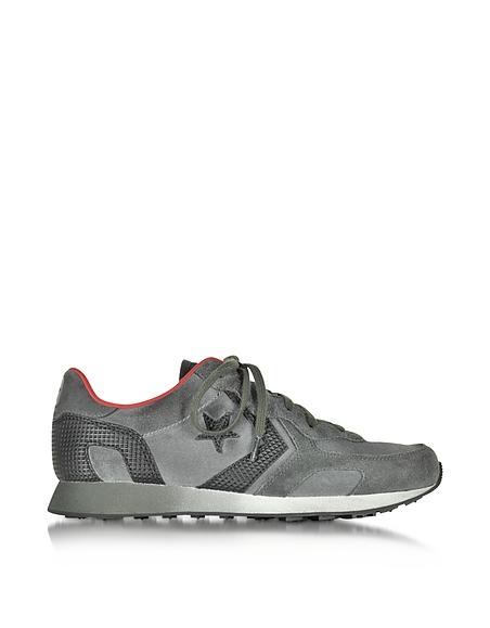 Foto Converse Limited Edition Auckland Racer Sneaker da uomo in Suede e Rete Beluga/Chili Pepper Scarpe