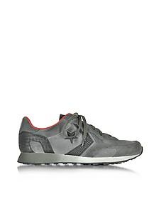 Auckland Racer - Sneakers Basses en Suède Gris/Vert Kaki - Converse Limited Edition
