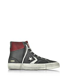 Star Player High Black/Truffle Leather and Suede Men's Sneaker - Converse Limited Edition