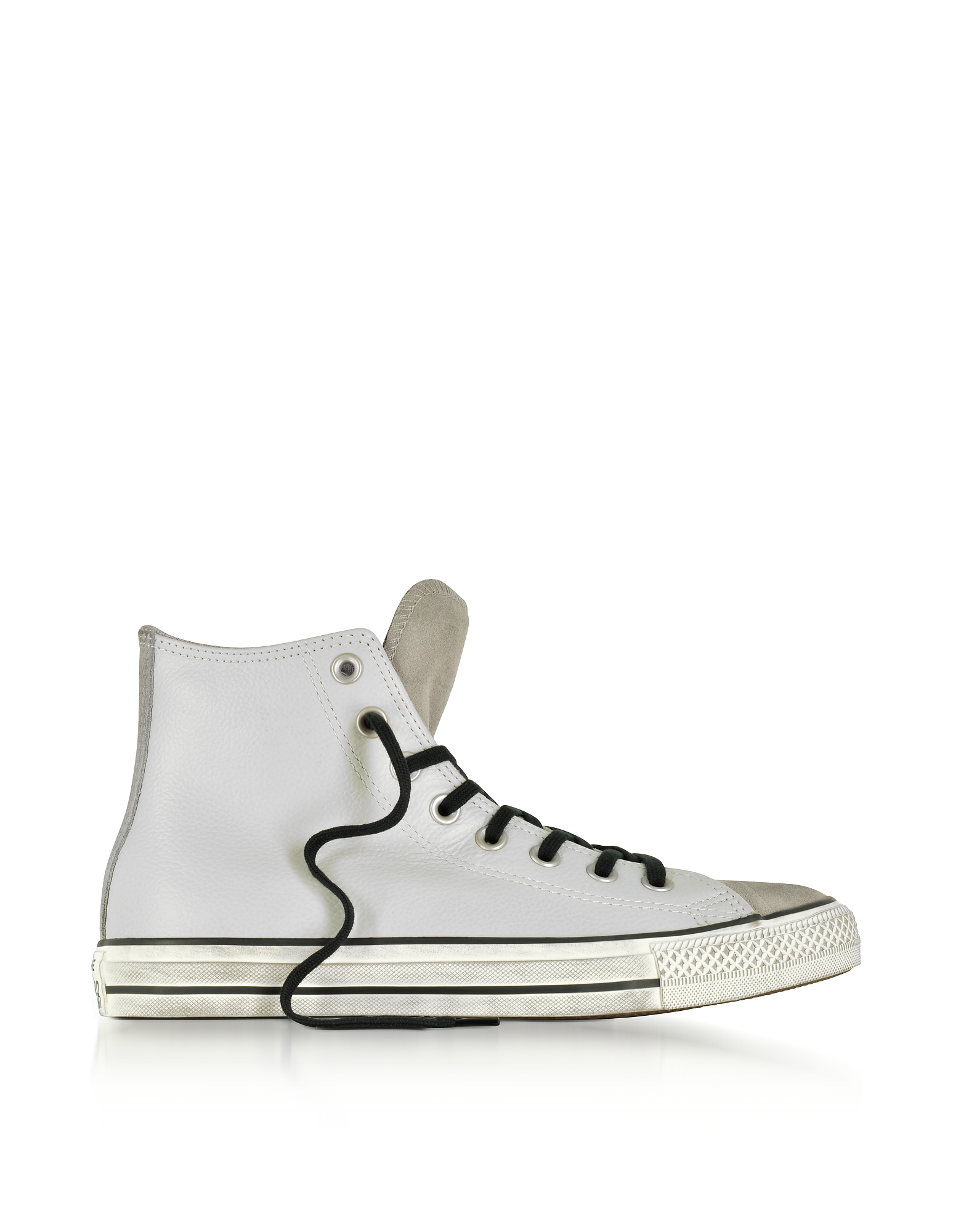 Converse Limited Edition Shoes, Chuck Taylor All Star High Stone Leather and Suede Sneakers