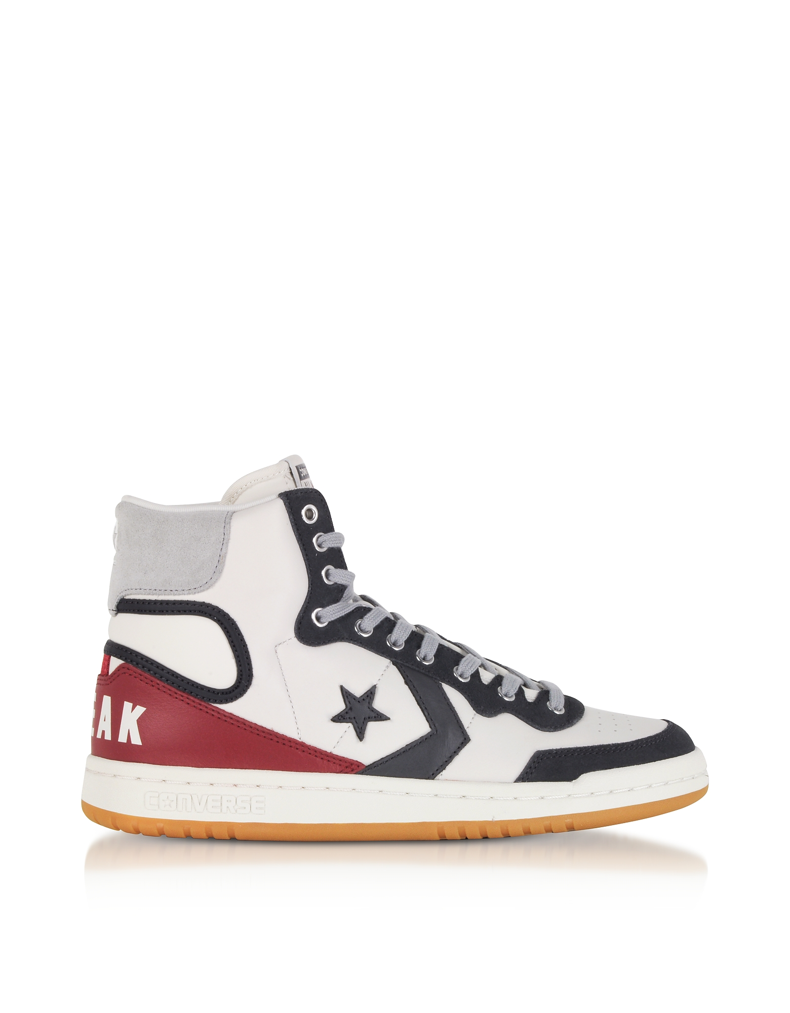 Converse Limited Edition Shoes, Fastbreak Hi Light Gray and Storm Wind Leather High Top Men's Sneake