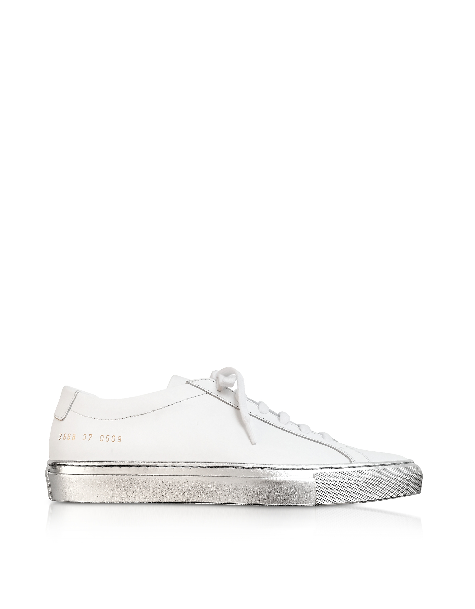 Achilles Sneakers Low Top da Donna in Pelle Bianco/Silver