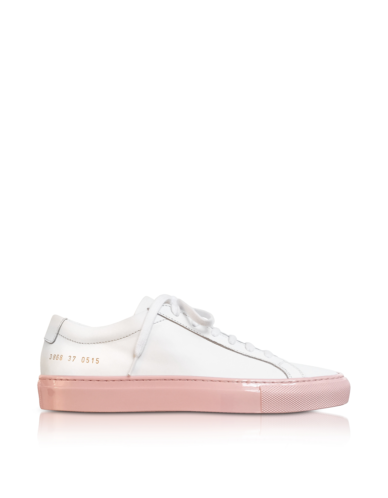 Achilles Sneakers Low Top da Donna Bianche e Rosa in Pelle