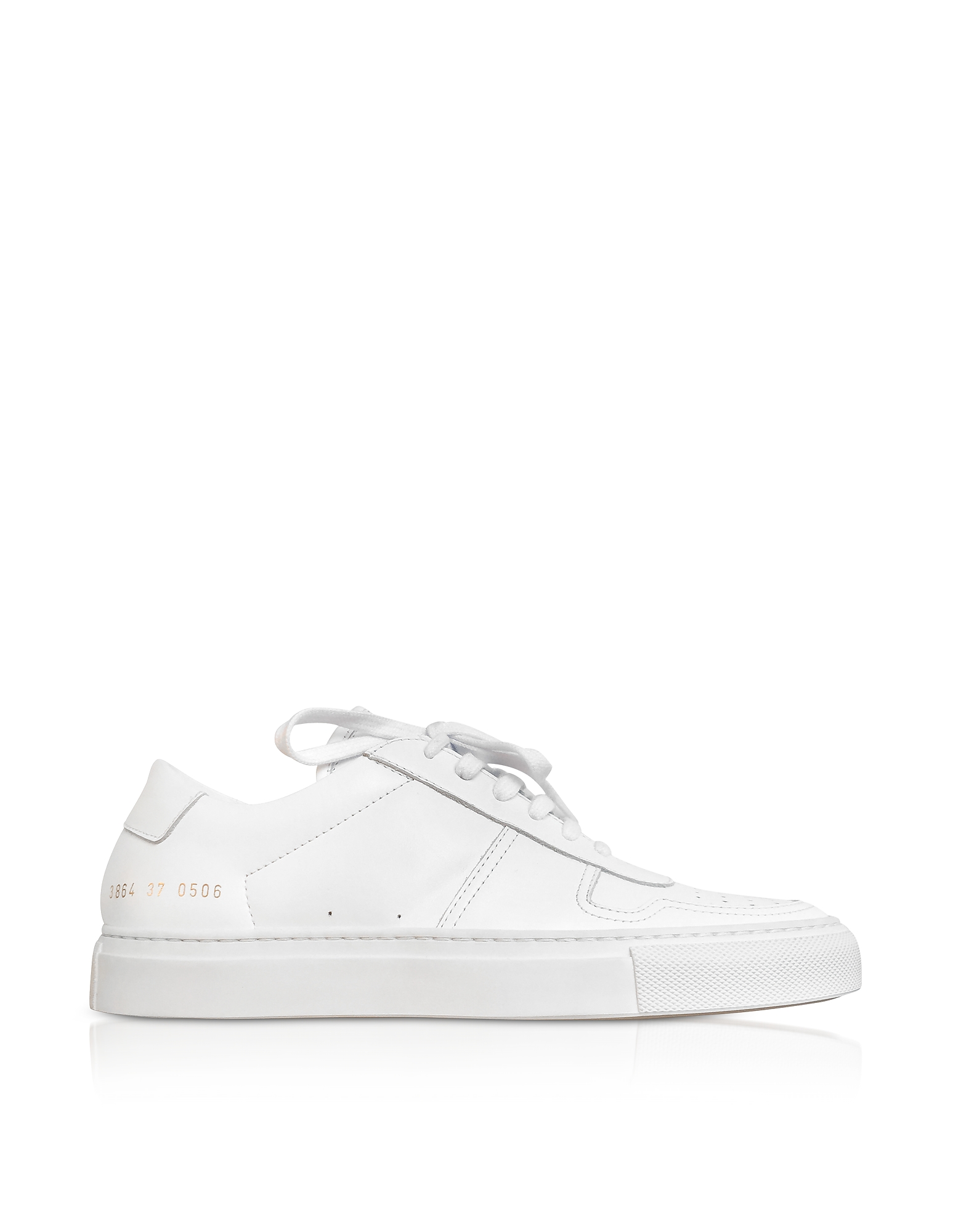 Bball Sneakers Low Top da Donna in Pelle Bianco Ottico