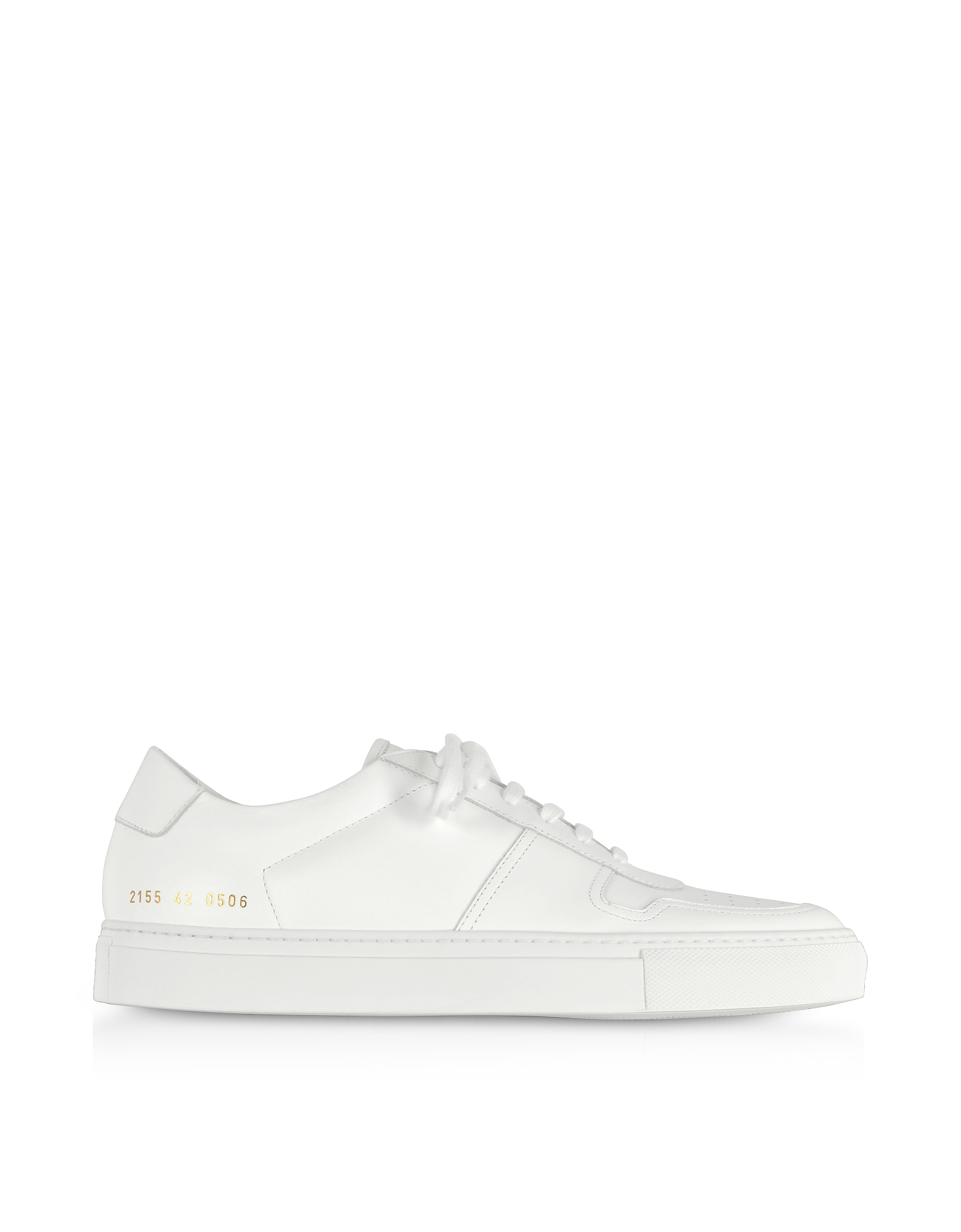 Bball Low White Leather Women's Sneakers