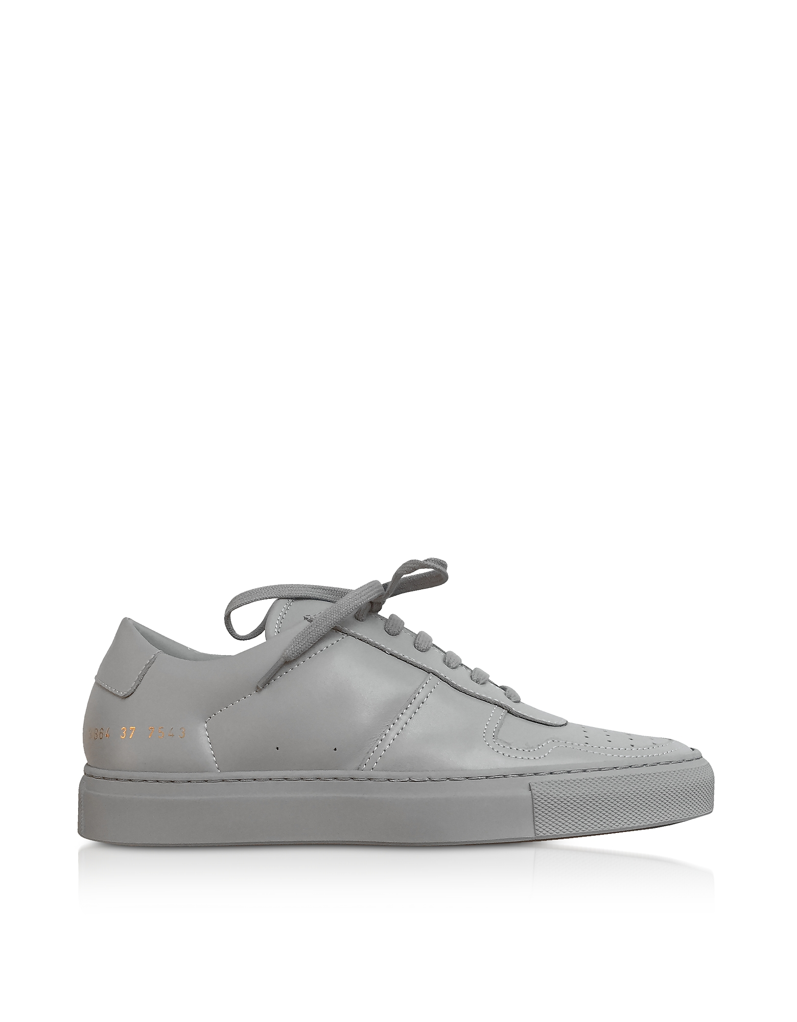 Bball Sneakers Low Top Donna in Pelle Gray
