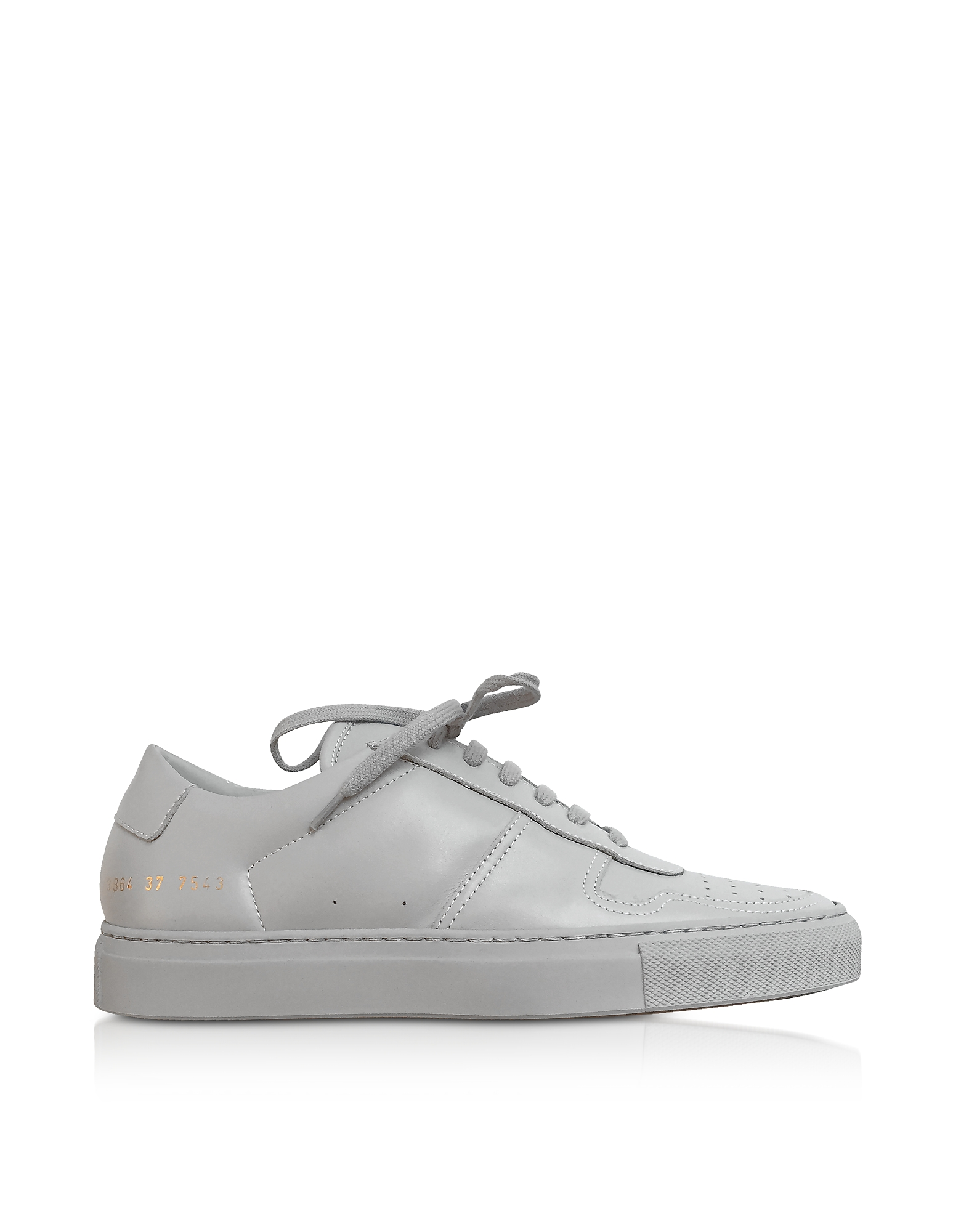 Bball Low Grey Leather Women's Sneakers