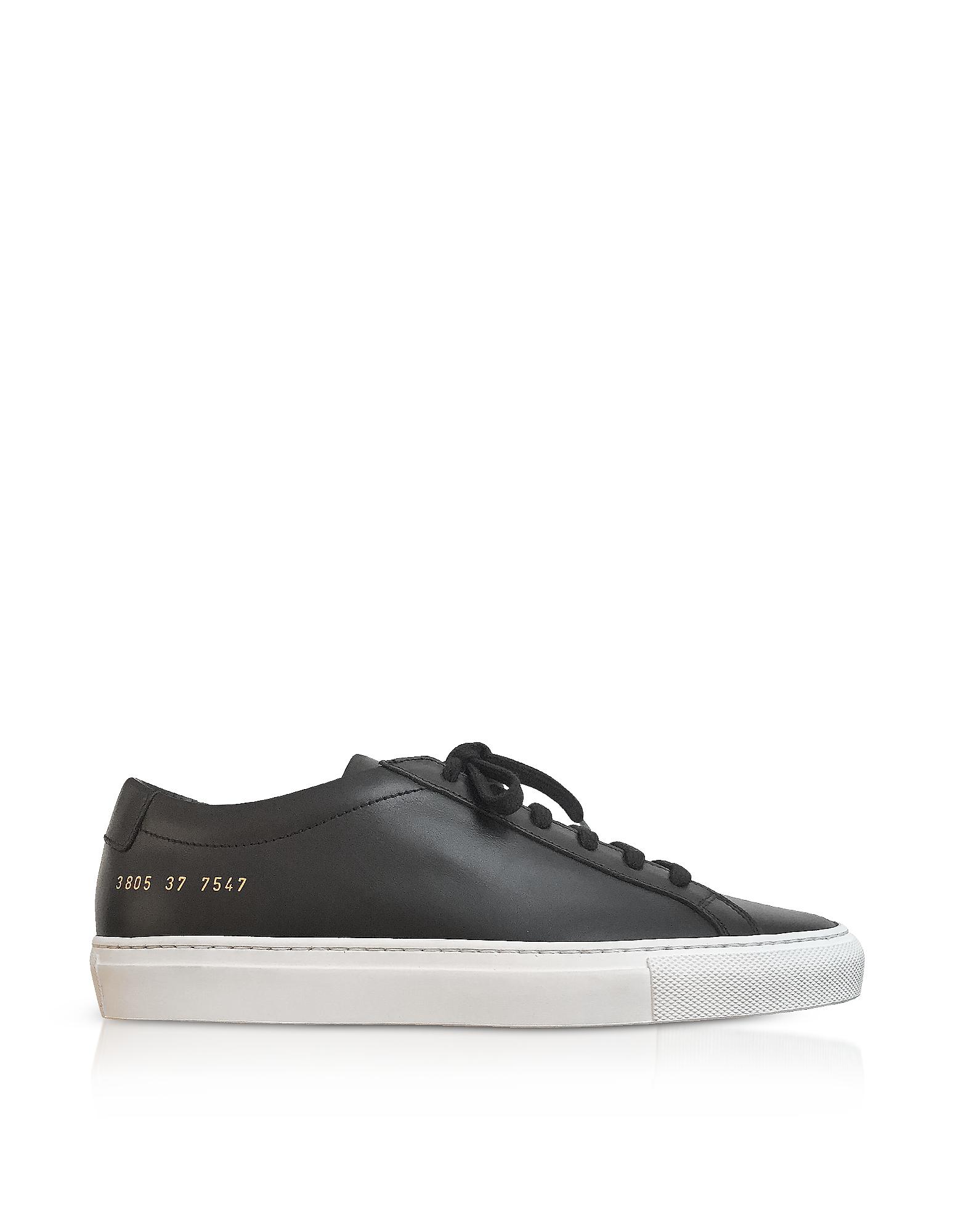 Common Projects Shoes, Black Original Achilles Low Women's Sneakers