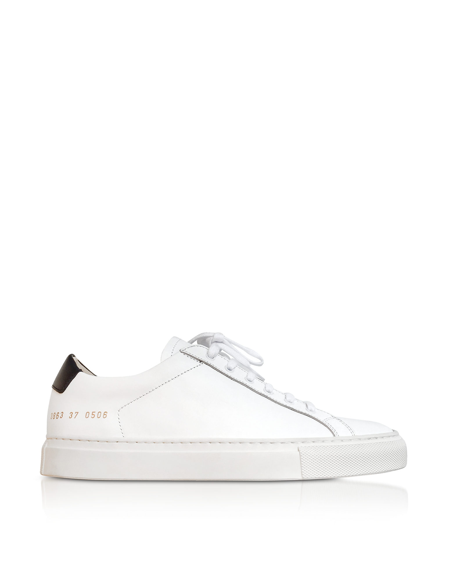 Achilles Retro Sneakers Low Top da Donna in Pelle Bianco Ottico