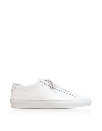 Pure White Leather Tournament Low Super Women's Sneakers