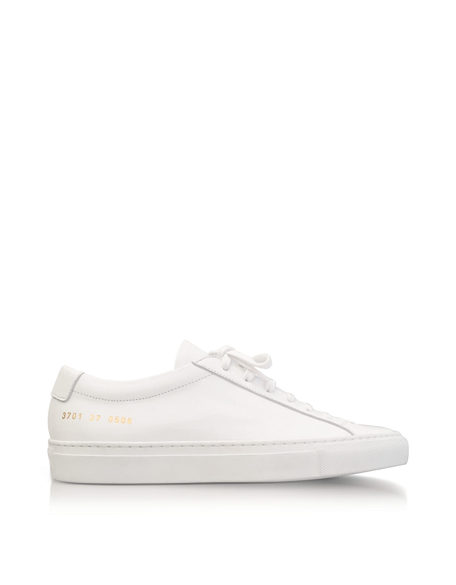 Common Projects Shoes, White Leather Achilles Original Low Top Women's Sneakers