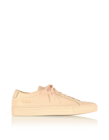 Common Projects - Nude Leather Achilles Original Low Top Women's Sneakers