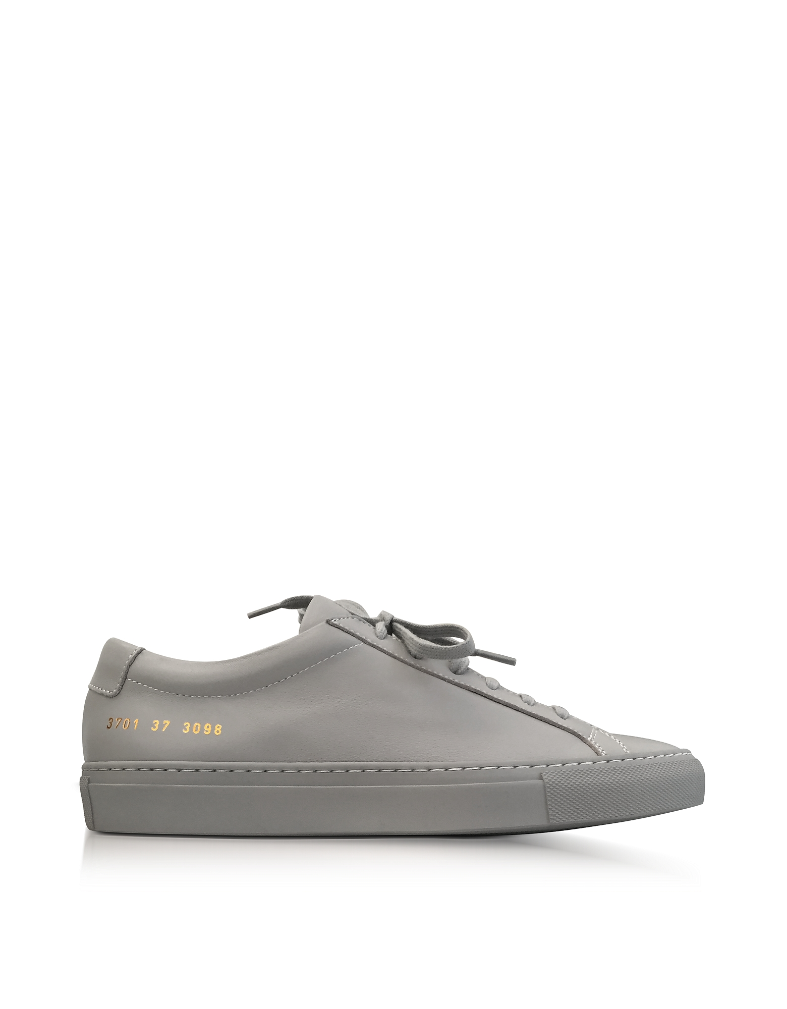 Common Projects Shoes, Ash Leather Achilles Original Low Top Women's Sneakers