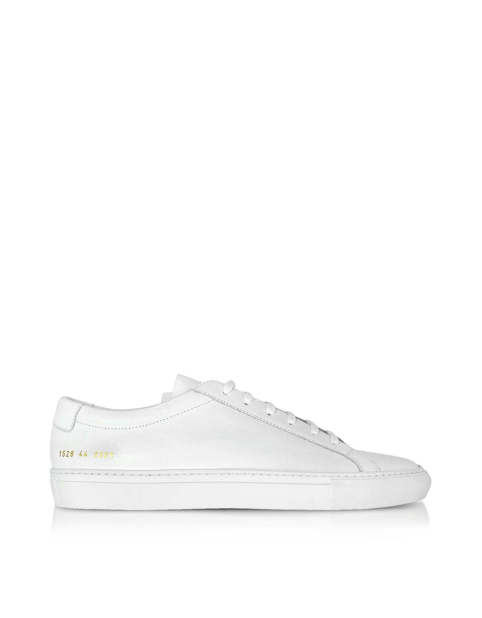 Original Achilles Low Sneakers da Uomo in Pelle Bianco Ottico