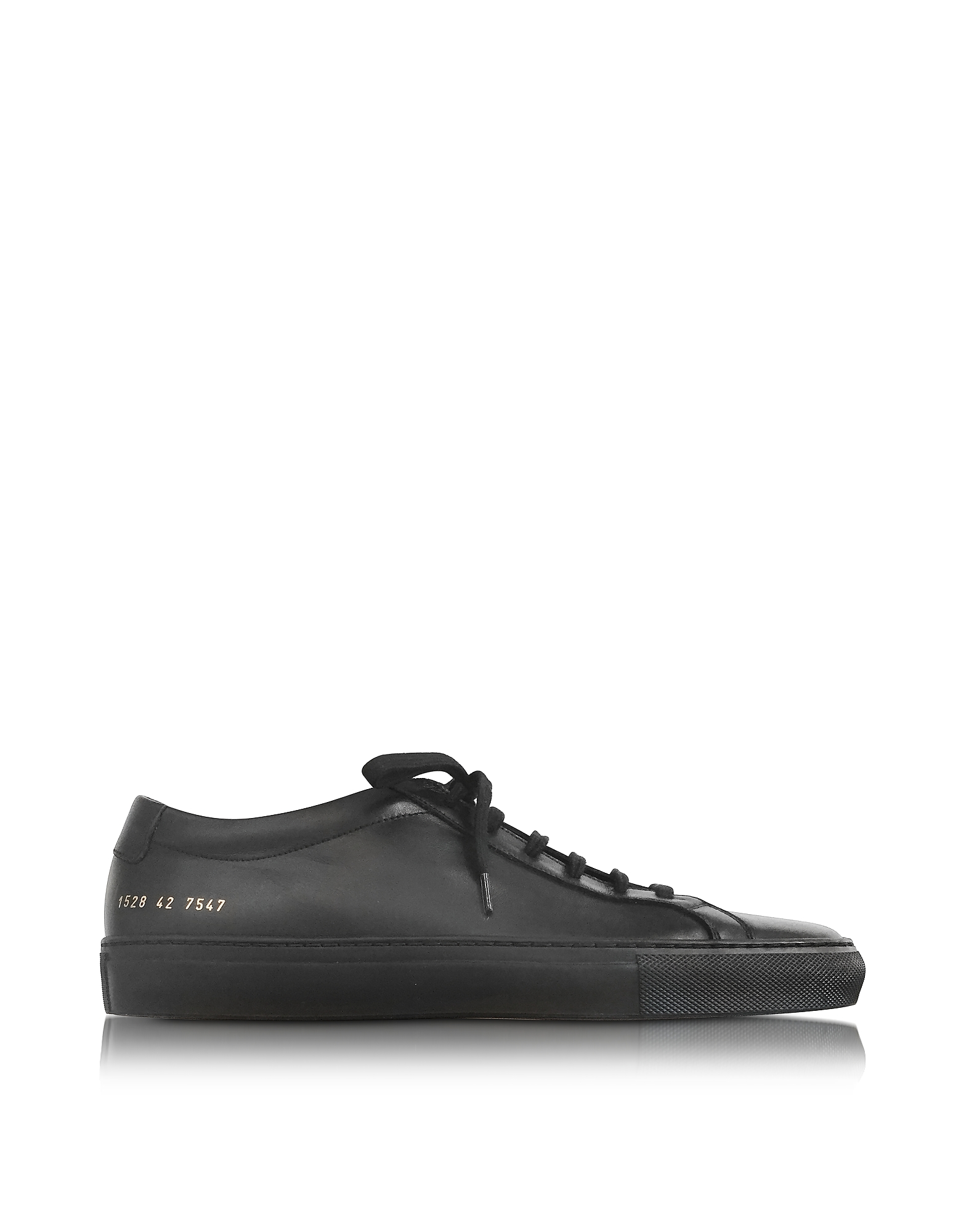 Common Projects Shoes, Original Achilles Low Black Leather Men's Sneaker