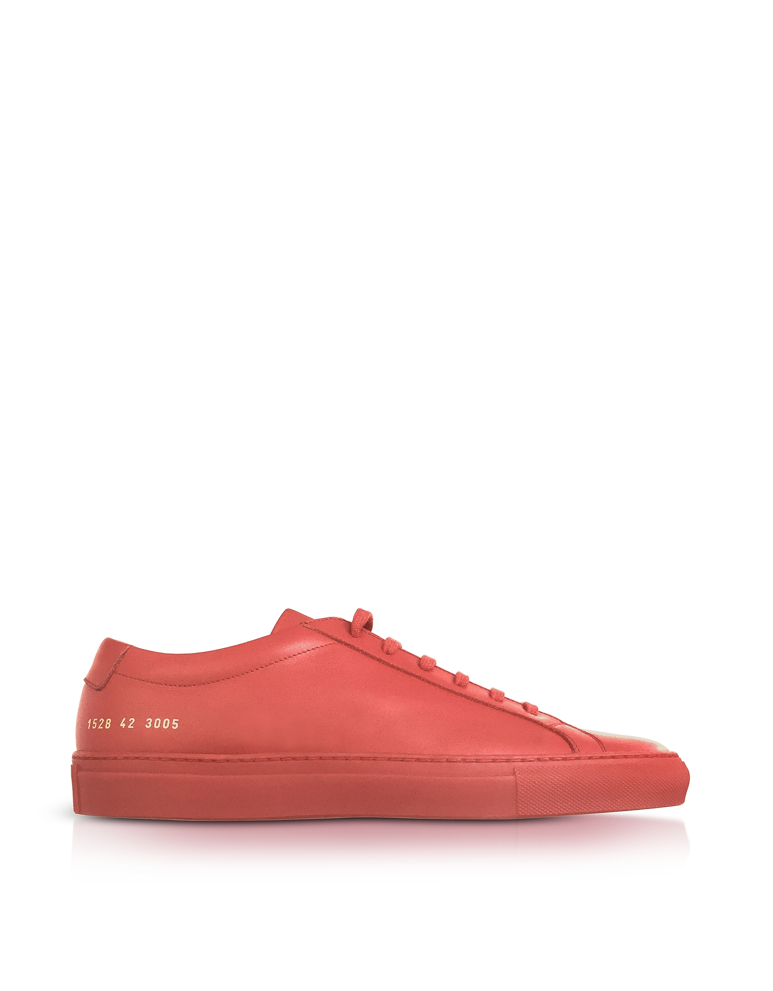 Common Projects Shoes, Original Achilles Low Red Leather Men's Sneaker