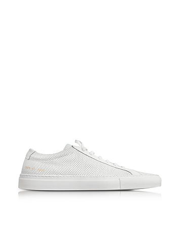Original Achilles Low White Perforated Leather Men's Sneaker