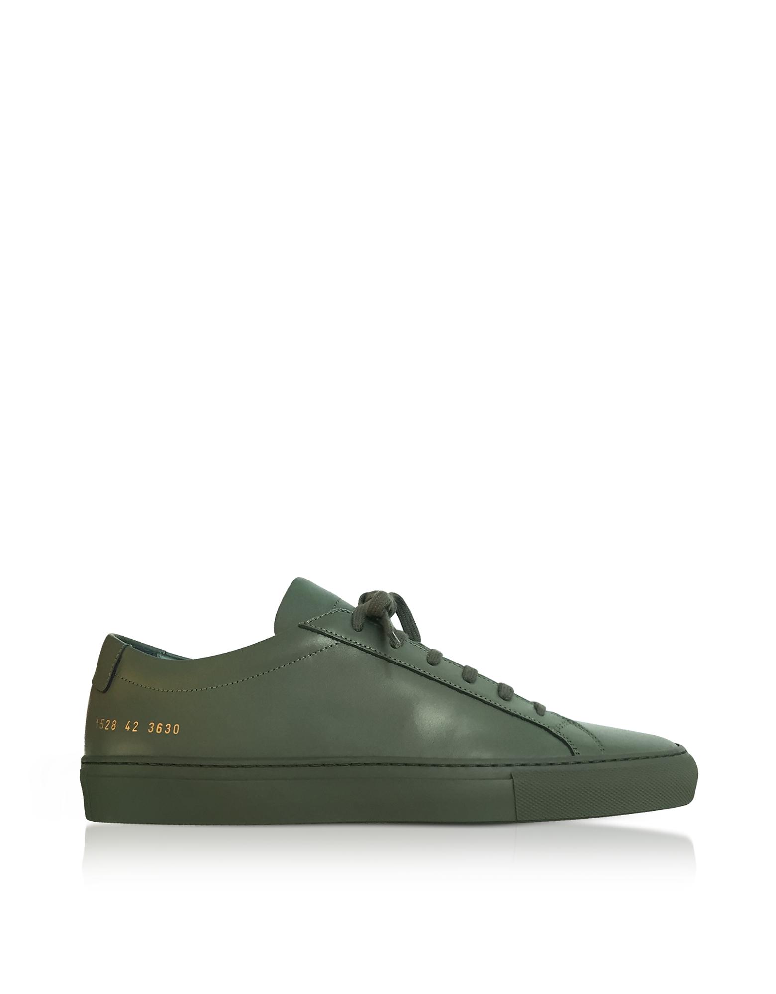Original Achilles Sneakers Low Top da Uomo in Pelle Verde Army