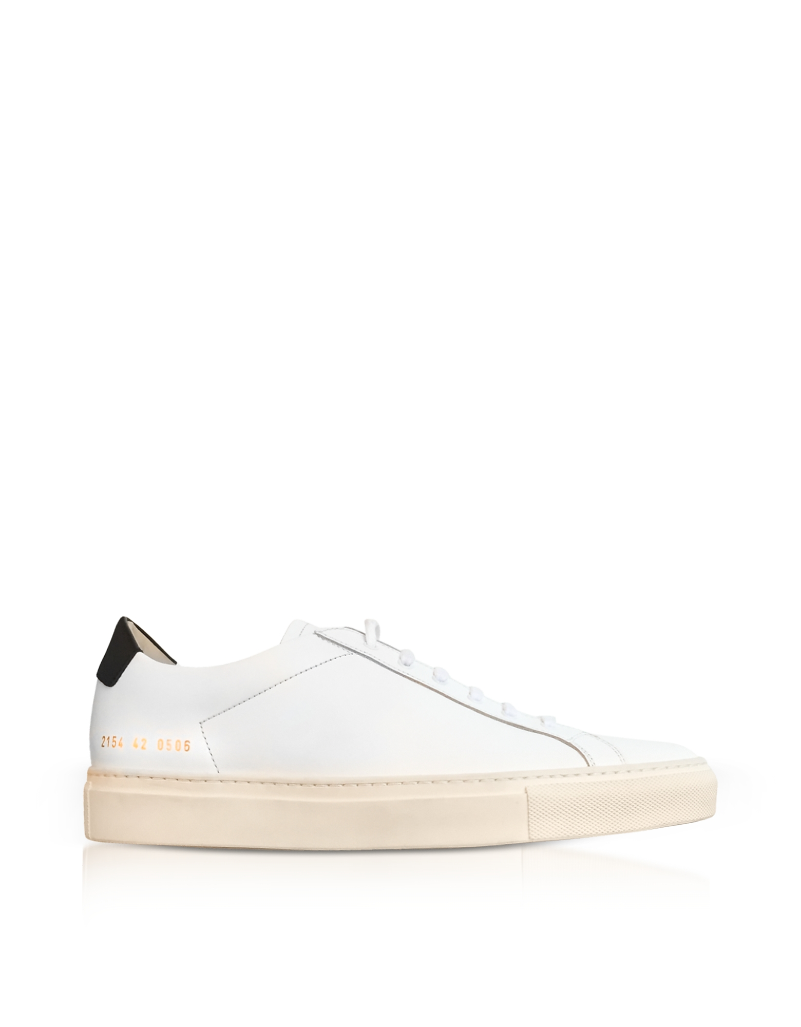 Achilles Retro Sneakers Low Top da Uomo in Pelle Off White