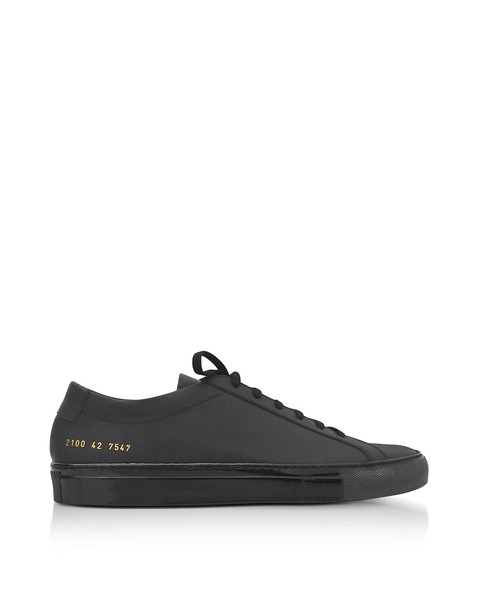Common Projects Shoes, Black Leather Achilles Luxe Men's Sneakers