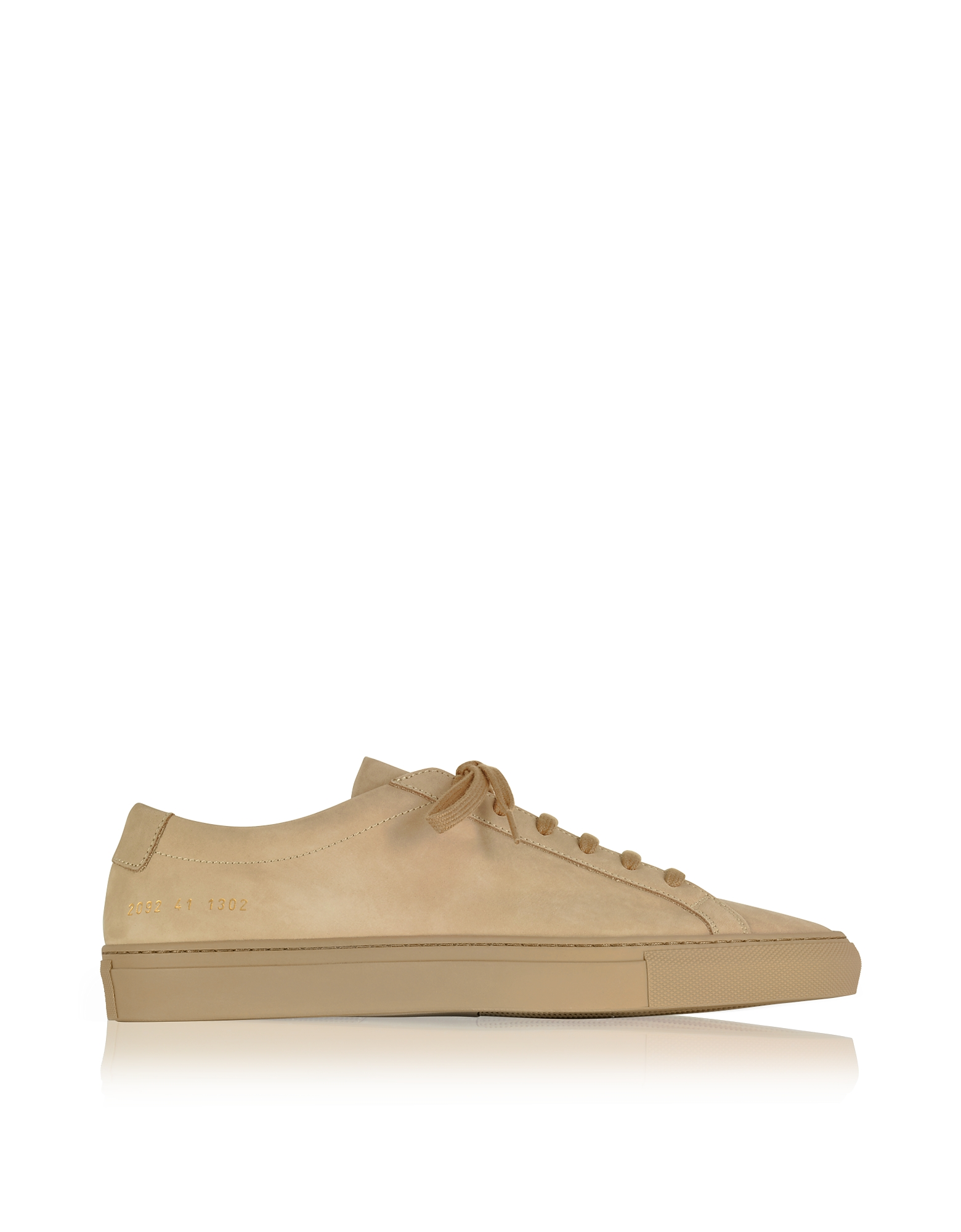 Common Projects Shoes, Tan Nubuck Original Achilles Low Men's Sneakers