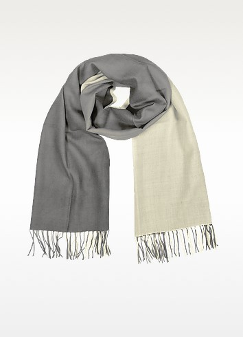 Two Tone Wool And Cashmere Wrap - Coveri Collection