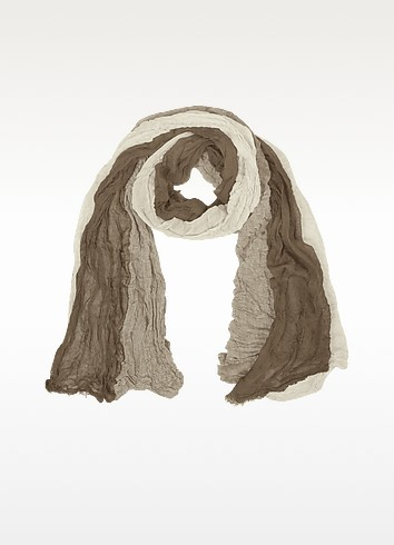 Ruffled Viscose Long Scarf - Coveri Collection