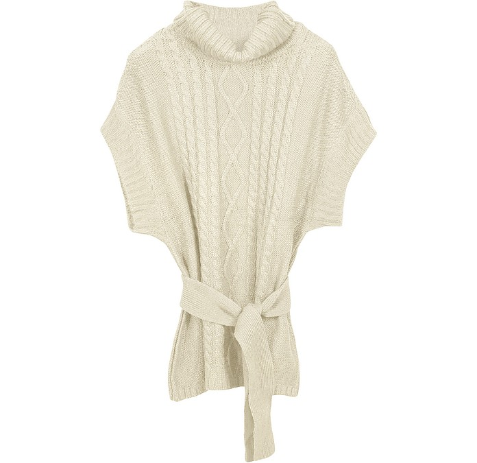 Cable-Knit Cowl Neck Sweater - Coveri Collection