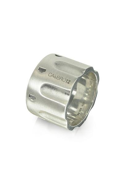 Revolver Sterling Silver Ring w/Chain - Calibro12