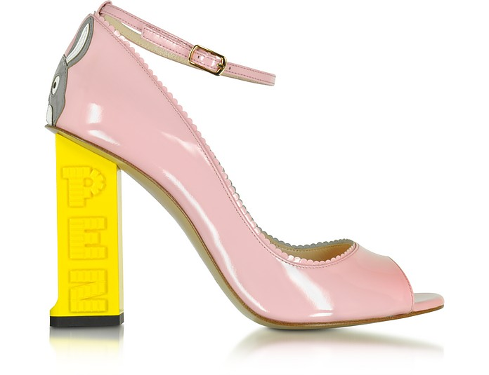 Pez Classics Lapin Pink Patent Leather Pump - Camilla Elphick
