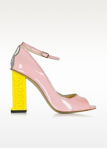Pez Classics Lapin Pink Patent Leather Pump - Camilla Elphick