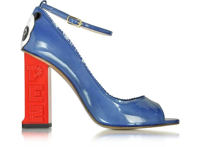 Pez Classics Chi Chi Dark Blue Patent Leather Pump - Camilla Elphick