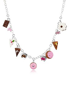 Sterling Silver Charm Necklace - Dolci Gioie