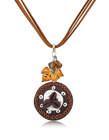 Dolci Gioie - Chocolate Cake Pendant w/Lace